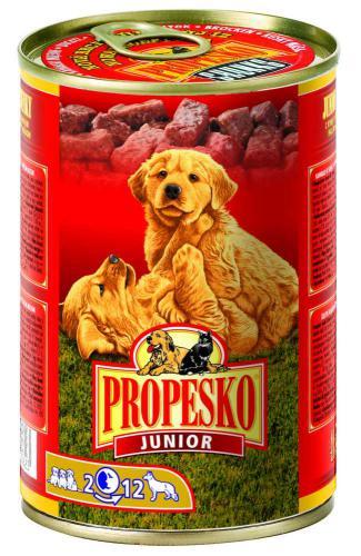 PROPESKO Dog Junior drùbeží, kousky 415 g