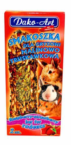 Tyèinka s malinami a jahodami hlodavec Dako (2 ks)