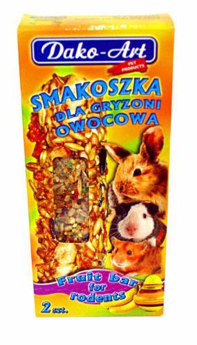 Tyèinka s ovocem hlodavec Dako (2 ks)