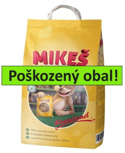 MIKEŠ Standard Natural hrudkující 10 kg - SLEVA 15 % (poškozený obal)