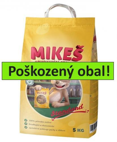 MIKEŠ Standard Natural hrudkující 5 kg - SLEVA 15 % (poškozený obal)