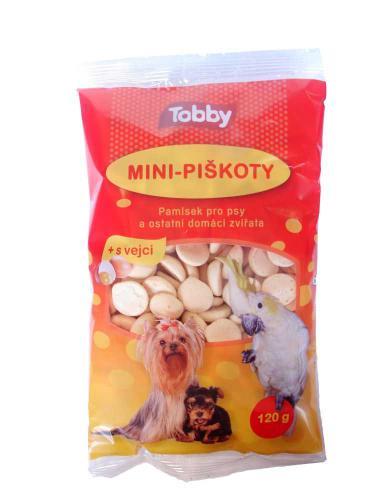 Piškoty krmné mini Tobby 120 g