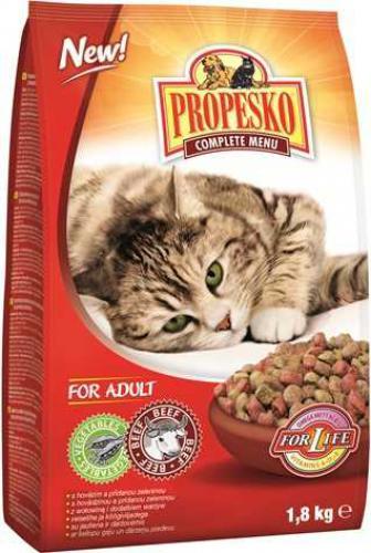 PROPESKO Cat hovìzí se zeleninou, granule 1,8 kg