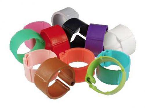 Kroužky zámkové plast 18 mm, rùzné barvy