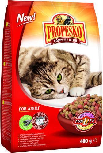 PROPESKO Cat hovìzí se zeleninou, granule 400 g