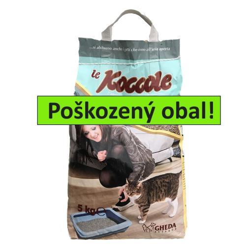 Le Koccole stelivo hrudkující 5 kg - SLEVA 20 % (poškozený obal)