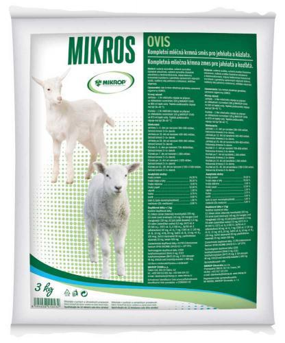 MIKROS OVIS sušené mléko, jehnì, kùzle 3 kg