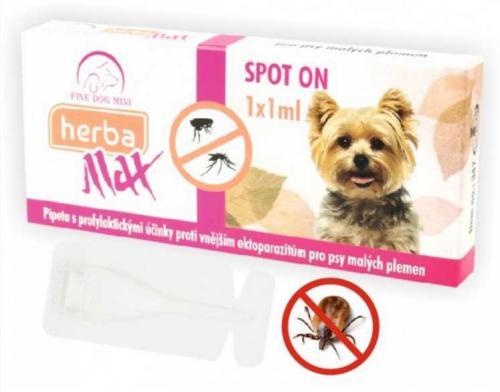 Max Herba Spot-on Dog antiparazatiní kapsle, pes do 15 kg  1 x 1 ml