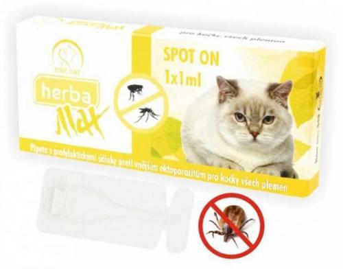 Max Herba Spot-on Cat antiparazatiní kapsle, koèka 1 x 1 ml