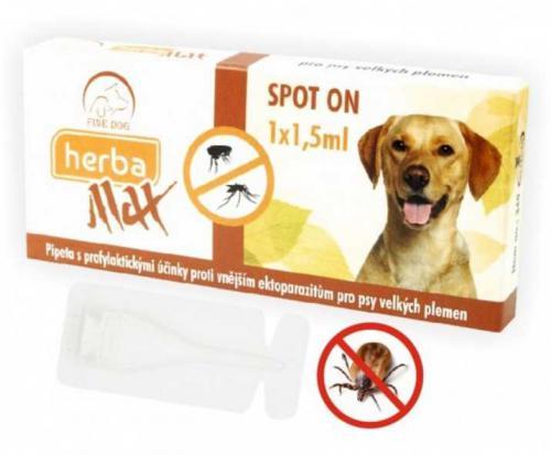 Max Herba Spot-on Dog antiparazitní kapsle, pes do 25kg 1 x 1,5 ml