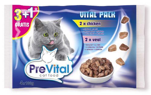 PreVital koèka kuøe a telecí, kapsa 100 g (pack 4 ks)