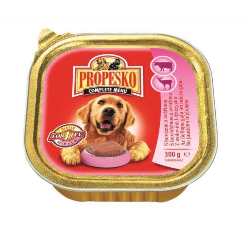 PROPESKO Dog hovìzí a zvìøina, vanièka 300 g