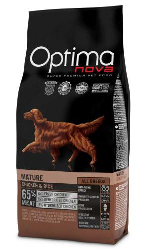 OPTIMAnova Dog Mature Chicken & Rice 12 kg