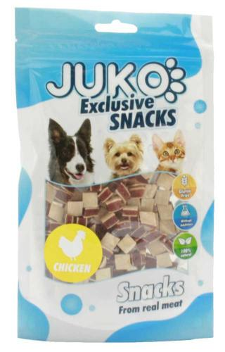 JUKO SNACKS Chicken Meat, Liver, Fish granul 70 g