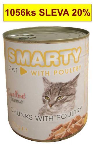 SMARTY chunks Cat Drùbeží 810 g