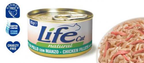 LifeCat Chicken with Beef 85 g