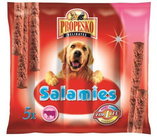 PROPESKO Dog Salamies hovìzí pamlsek (5 ks)