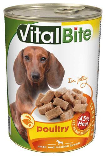 VitalBite pes drùbeží želé, kousky 415 g