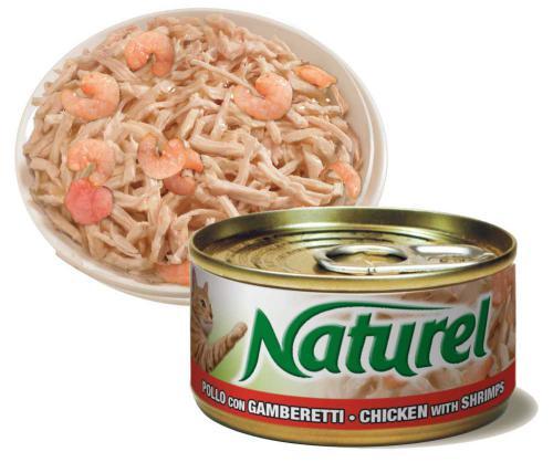 Naturel Cat Chicken with Shrimps, konzerva 70 g