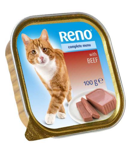 RENO Cat hovìzí se zeleninou, vanièka 100 g