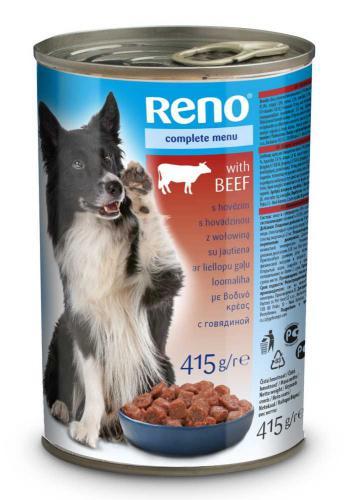RENO Dog hovìzí, kousky 415 g