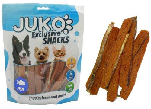 JUKO SNACKS Salmon strip with fish skin 250 g