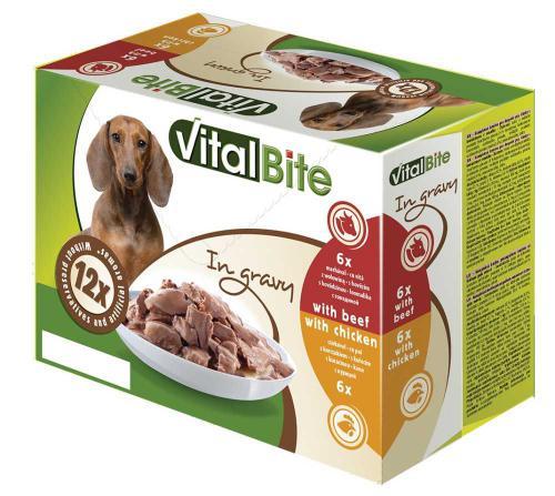 VitalBite pes hovìzí & kuøecí, kapsa 85 g (12 ks)