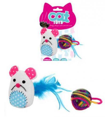 Myš se šantou a balónek