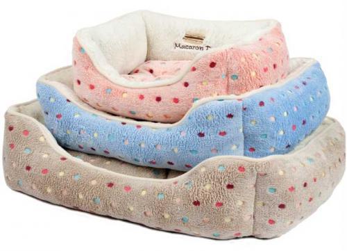 Pelíšek s puntíky Extra soft Bed šedá  L 90 cm