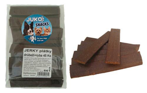 Jerky plátky drùbeží+ryba JUKO SNACKS (45 ks)