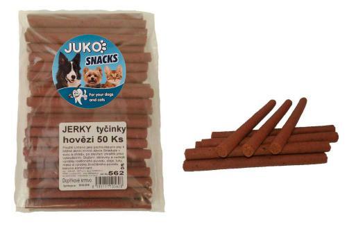 Jerky tyèinky hovìzí JUKO SNACKS (50 ks)