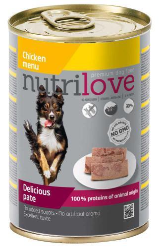 Nutrilove pes kuøecí paté, konzerva 400 g