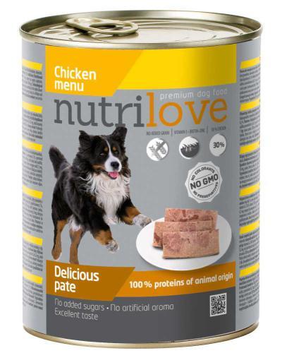 Nutrilove pes kuøecí paté, konzerva 800 g