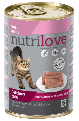 Nutrilove koèka telecí paté 400 g