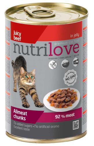 Nutrilove koèka hovìzí kousky v želé 400 g