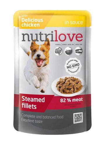 Nutrilove pes kuøecí ve štávì, kapsièka 85 g