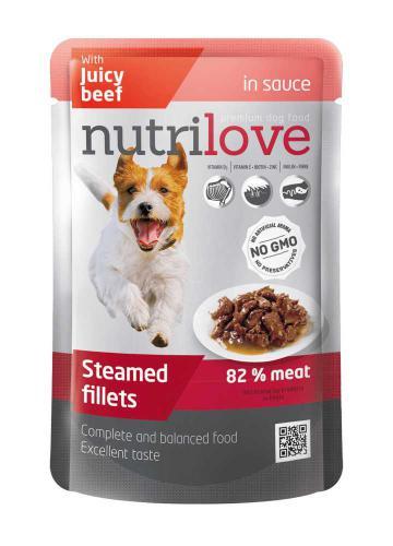 Nutrilove pes hovìzí ve štávì, kapsièka 85 g