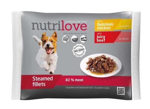 Nutrilove pes kuøecí a hovìzí ve štávì, kapsièka 85 g (pack 4 ks)