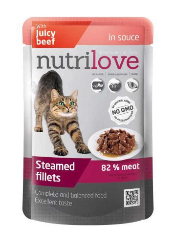 Nutrilove koèka hovìzí ve š�ávì, kapsièka 85 g