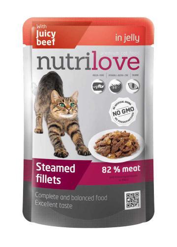 Nutrilove koèka hovìzí v želé, kapsièka 85 g