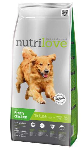 Nutrilove pes Mature fresh kuøecí, granule 3 kg