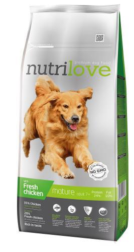 Nutrilove pes Mature fresh kuøecí, granule 12 kg