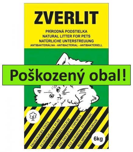 ZVERLIT zelený podestýlka hrubá 6 kg - SLEVA 10 % (poškozený obal)
