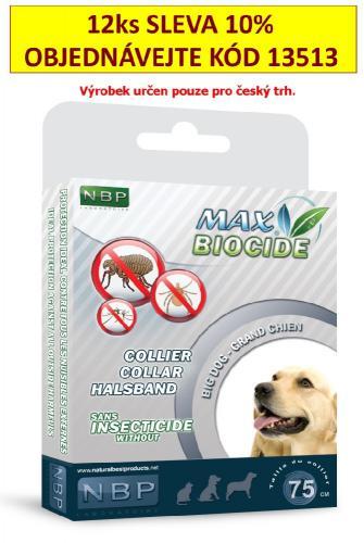 Max Biocide Collar Dog antiparazitní obojek, pes 75 cm !CZ!