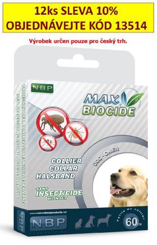Max Biocide Collar Dog antiparazitní obojek, pes 60 cm !CZ!