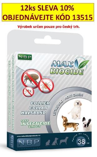 Max Biocide Collar Dog antiparazitní obojek, pes 38 cm !CZ!