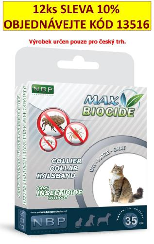 Max Biocide Collar Cat antiparazitní obojek, koèka 42 cm !CZ!
