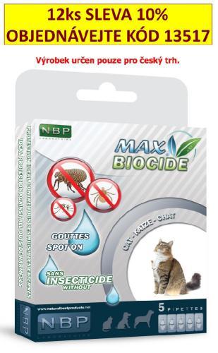 Max Biocide Spot-on Cat antiparazitní kapsle, koèka  5 x 1 ml !CZ!