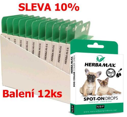 Herba Max Spot-on Dog & Cat kapky 5x1 ml (12 ks) SLEVA 10 %