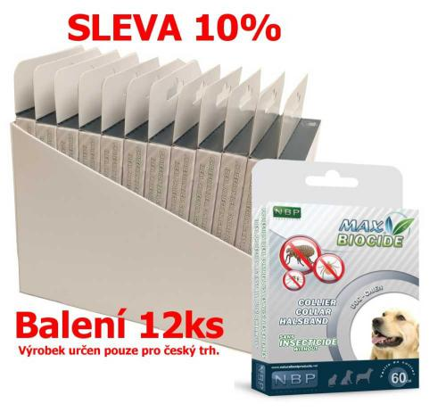 Max Biocide Collar Dog antiparazitní obojek, pes 60 cm (12 ks) SLEVA 10 % !CZ!